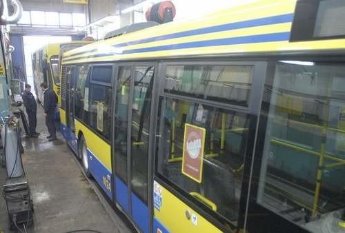 Warsztat naprawy autobusów MZK.