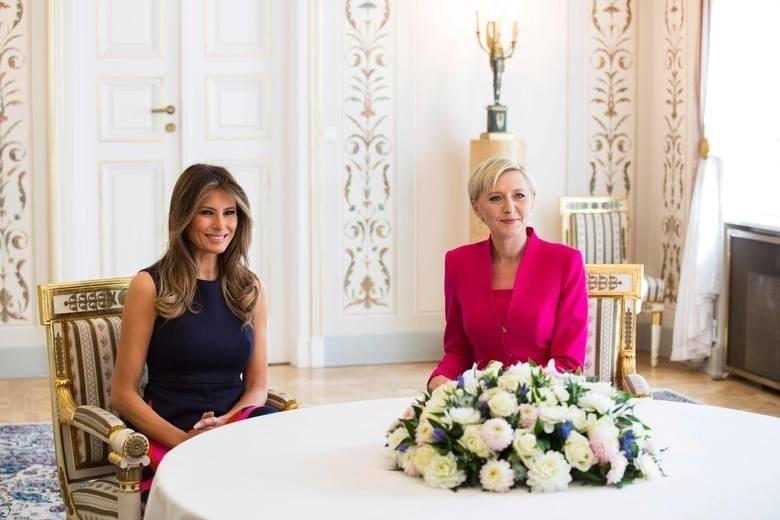 Melania Trump spotkała się w Belwederze z Agatą Kornhauser-Dudą.