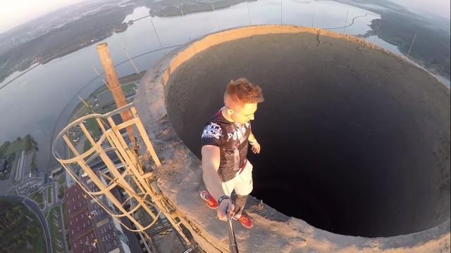 Z okazji Dnia Niepodległości Dawid Łomnicki z Raciborza opublikował film ze wspinaczki na 300 metrowy komin elektrowni Rybnik. ZOBACZCIE ZDJĘCIA + WIDEO