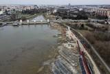 Odmulanie rzeszowskiego zalewu przerwane do października, zobacz dotychczasowy postęp prac [ZDJĘCIA]
