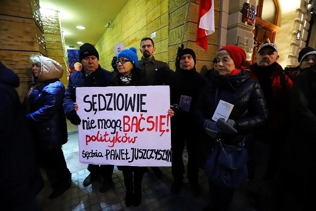 Protest w obronie sędziego Juszczyszyna i wolnych sądów