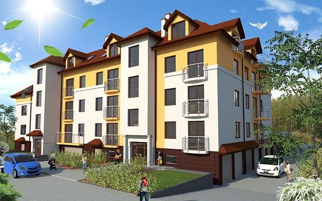 Bursztynowa Rezydencja na Osowej GórzeBlok ma 3 klatki schodowe. Mieszkania w pierwszej (w sumie 14 lokali) są prawie ukończone.
