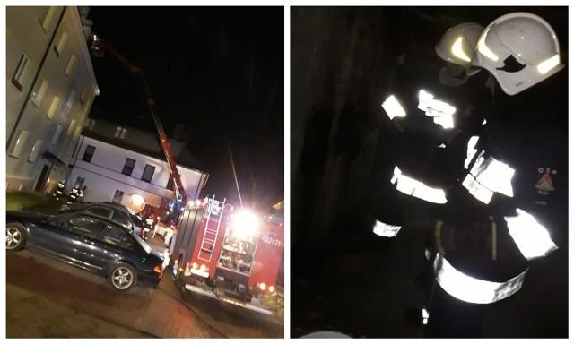 W jednym z bloków w Dąbrowie Białostockiej zapaliła się sadza kominie. Strażacy szybko opanowali sytuację
