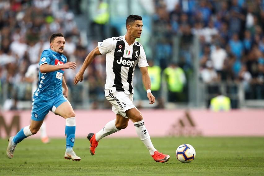 Cristiano Ronaldo zaliczył trzy asysty w starciu z Napoli.