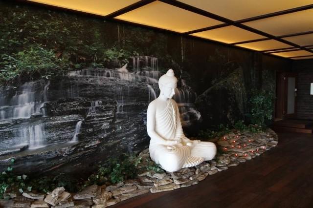 Tak wygląda sala, w której odbywają się ćwiczenia oddechowe i medytacje.