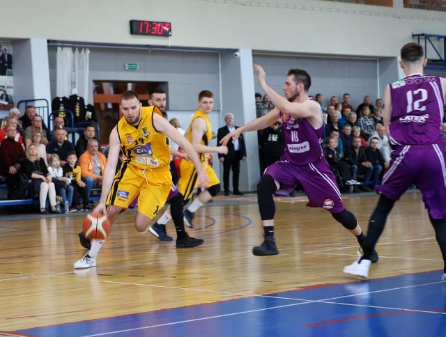 Michał Wielechowski był najskuteczniejszym z Żubrów w meczu w Kłodzku