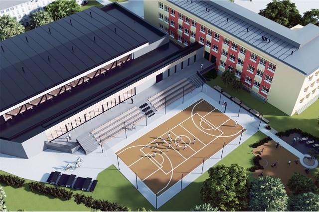 Zarząd Infrastruktury Sportowej w Krakowie ogłosił przetarg na budowę hali sportowej przy IX Liceum Ogólnokształcącym przy ul. Czapińskiego 5 wraz z łącznikiem prowadzącym do szkoły.