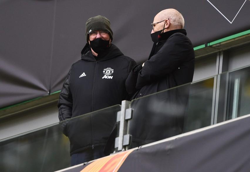 Sir Alex Ferguson na trybunach stadionu w Gdańsku...