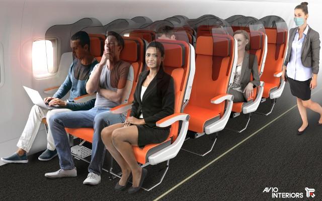Sterylny samolot w dobie koronawirusa? Włoska firma projektuje bezpieczne fotele. To recepta na podróże liniami lotniczymi?