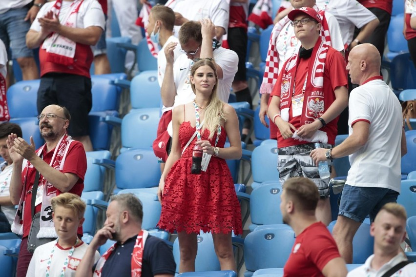 Kibice na meczu Szwecja - Polska w Sankt Petersburgu