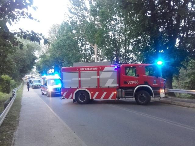 Wypadek w Chłapowie (27.06.2019)