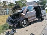 Wypadek trzech samochodów na drodze Wrocław - Kłodzko