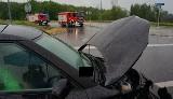 Karambol w Jastrzębiu-Zdroju. Cztery auta zderzyły się rano 25 maja na Drodze Głównej Południowej