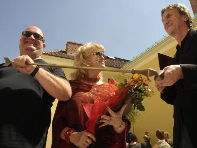 Od lewej Henryk Martenka, Maria Senska i Grzegorz Kalinowski, zdobywcy tegorocznych Strzał Łuczniczki