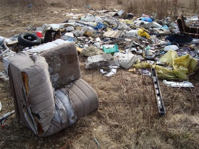 Śmietnisko jest coraz większe. Jak widać wyrzuca się tu rozmaite odpady.