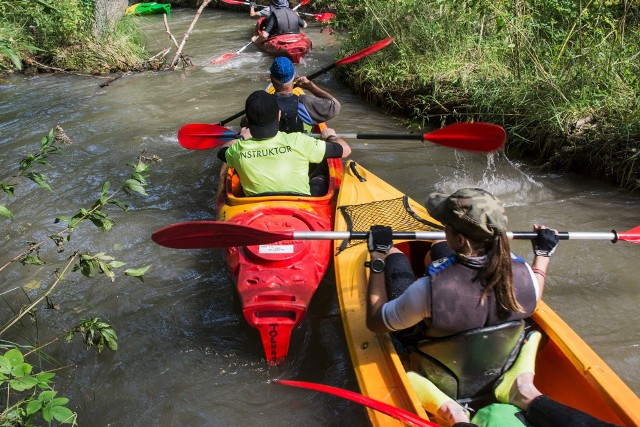 Spływ kajakami w Bukownie pod Olkuszem