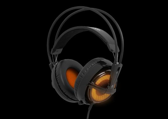 SteelSeries Siberia v2 Heat OrangePomarańczowe podświetlenie w SteelSeries Siberia v2 Heat Orange może pulsować w rytm muzyki/efektów dźwiękowych. Można je też wyłączyć.