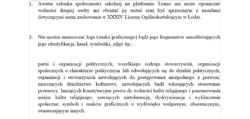 """Dyrektor XXXIV LO w Łodzi: """"apolityczność szkoły""""..."""