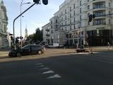 Dwa wypadki motocyklistów w centrum Łodzi! Uwaga na utrudnienia