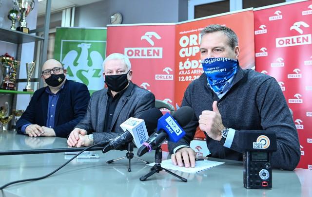 Prezes Lech Leszczyński, dyrektor Marek Kondraciuk i Sebastian Chmara