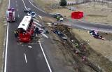 Po dwóch wypadkach ukraińskich autokarów, w których zginęło 7 osób, GDDKiA zamknęła MOP Kaszyce na autostradzie A4