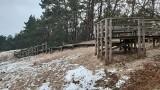 Wydma Orzechowska pokryta śniegiem. Zobacz zdjęcia