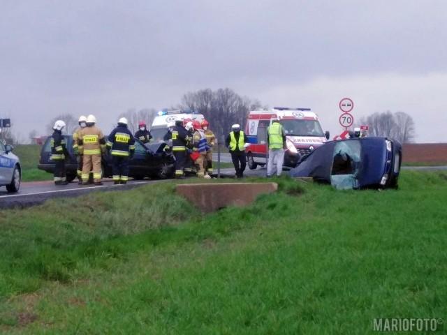 Groźny wypadek na DK41 w Niemysłowicach koło Prudnika.