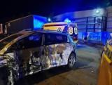 Wysokie Mazowieckie. Wypadek dwóch samochodów osobowych i ciężarówki. Jedna osoba w szpitalu [ZDJĘCIA]