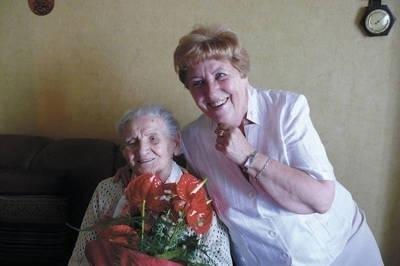 Marta Burdek na zdjęciu z córką Eleonorą Franik-Szczygieł Fot. Zbiory rodziny