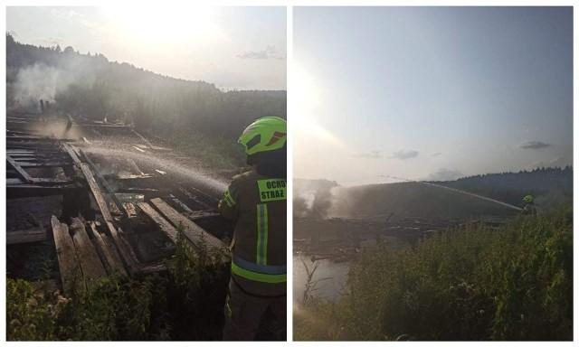 Spłonął most na rzece Sokołdzie w Dworzysku