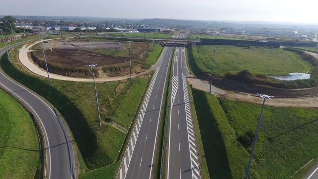 s52: nowe zdjęcia lotnicze z budowy północnej obwodnicy Krakowa