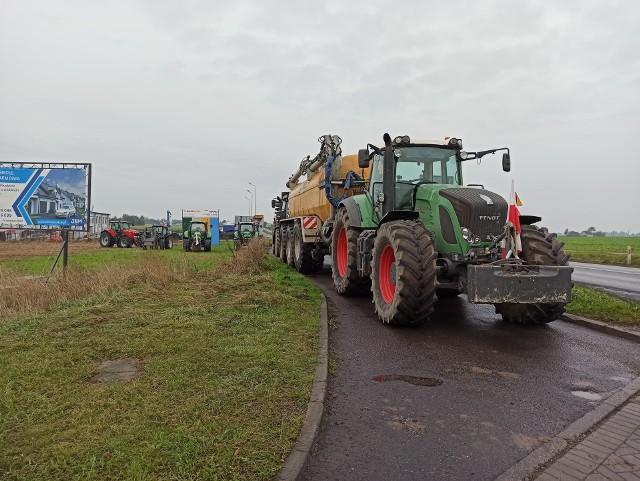 Rolnicy protestują m.in. w powiecie tucholskim