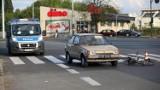 Wypadek na Pabianickiej. Rowerzystka potrącona na przejściu dla pieszych [ZDJĘCIA]