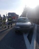 Wypadek w Zwierzyńcu. Auto potrąciło rowerzystę na drodze krajowej. W akcji śmigłowiec