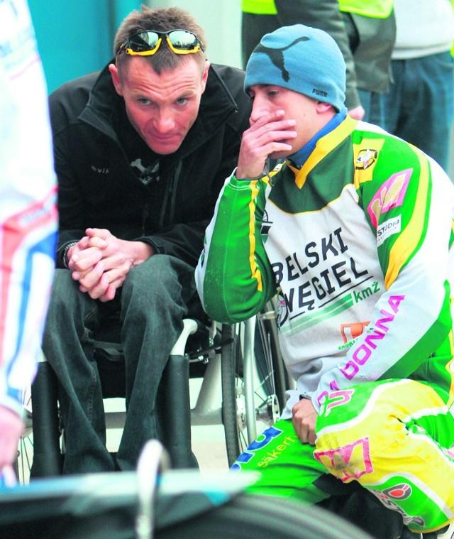 Rafał Wilk po wypadku na torze jeździ na wózku inwalidzkim