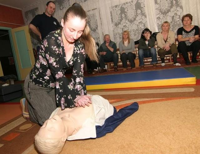 Kurs pierwszej pomocy w Miejskim Przedszkolu nr 24 w Słupsku.