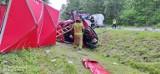 Rybitwy, gmina Połaniec. Śmiertelny wypadek na krajowej 79. Czołowo zderzyły się ciężarówka z osobówką. Jedna osoba nie żyje