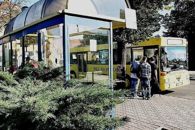 Na Rynku w Kruszwicy jest dziś przystanek autobusowy