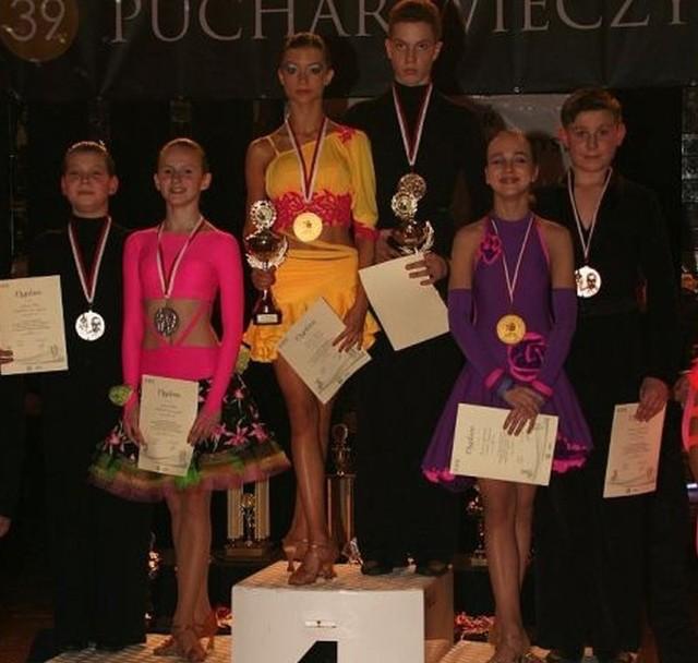 Jędrzej Piłat i Michalina Leszczyńska na podium w Krakowie