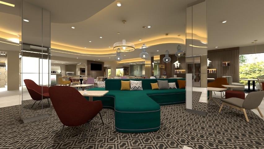 Tak ma wyglądać wnętrze hotelu Hampton by Hilton przy...