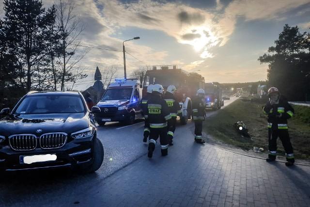 Krupniki. Wypadek motocyklisty na ul. Kruszewskiej. Zderzył się z suvem BMW