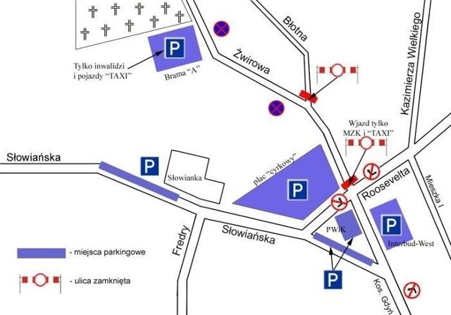 Nie parkujcie na ul. 30 Stycznia! Tam będzie baza autobusów, osobówki zostaną wywiezione na lawecie.