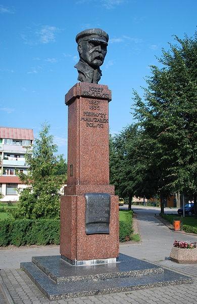 Sokółka - pomnik Józefa Piłsudskiego