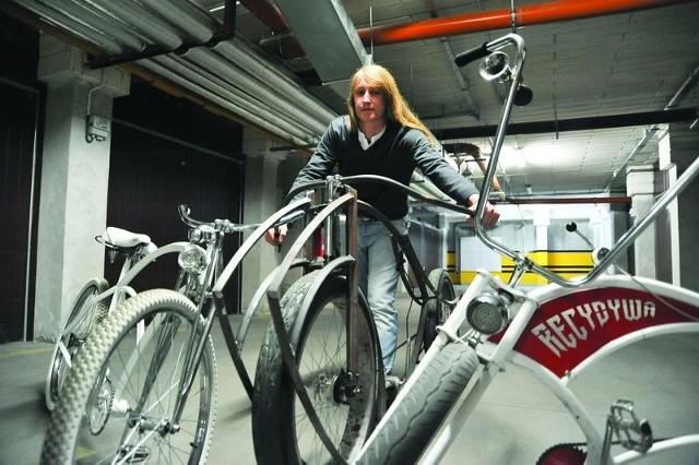 Adam Zdanowicz - konstruowanie rowerów to jego prawdziwa pasjaAdam Zdanowicz i jego pierwsze rowery