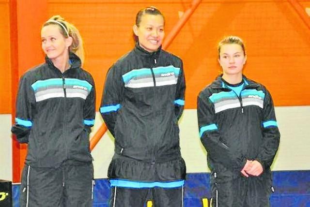 Od lewej: Marta Smętek, Zao Xia i Paulina Knyszewska. Te zawodniczki z powodzeniem reprezentowały klubowe barwy