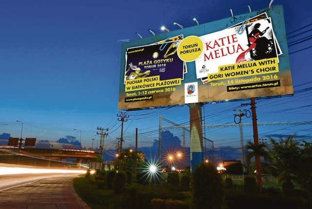 Wizualizacja jednego z billboardów, które zagościły w siedmiu miastach. Każdy ma co najmniej 11 mkw.