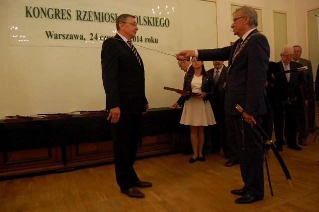 Piotr Koperski otrzymał Szablę Kilińskiego, najwyższe wyróżnienie dla rzemieślnika