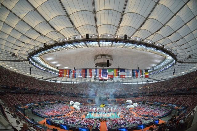 Na PGE Narodowym odbyło się oficjalne otwarcie mistrzostw Europy.