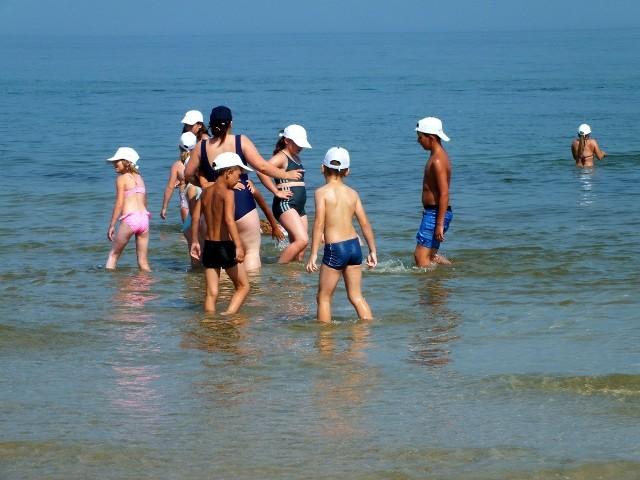 Dzieci spędziły dwa tygodnie nad morzem.