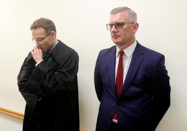 Na zdjęciu, po prawej Sławomir Cenckiewicz.